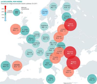 exclusión, europa, mapa