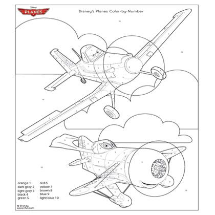Sasaki time craft time disney 39 s planes coloring page for Disney color by number printable pages