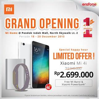 Xiaomi Mi4i Harga Spesial Rp 2.699.000 Bonus MI Band dan MI Powerbank - Grand Opening Xiaomi Mi Home