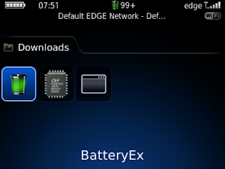 BatteryEx v2.0 for BlackBerry
