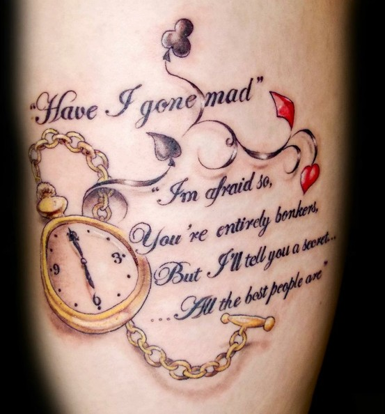 Alice in Wonderland Quote Tattoos