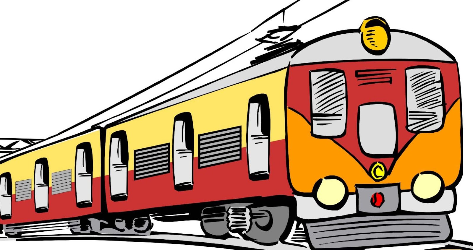 Train Clip Art : Lic pensioners chronicle spot your train with ease