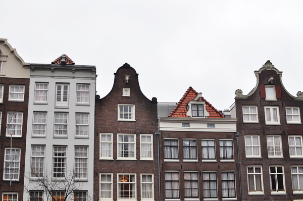 canal houses in Amsterdam.