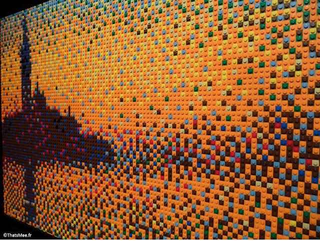 impressionnisme Claude MOnet en Lego by Nathan Sawaya expo The Art Of Brick Porte de Versaille Paris
