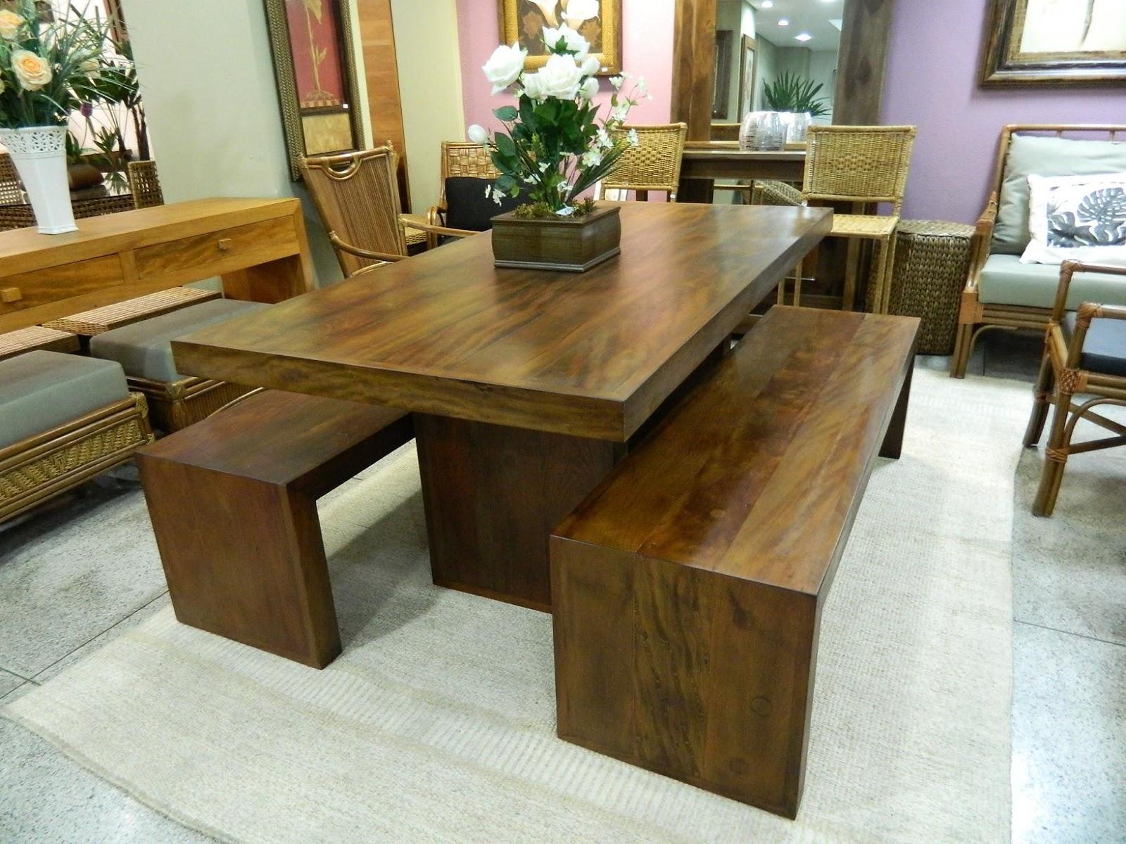 Lar sempre lar mesas de madeira inspiradoras for Modelos de mesas