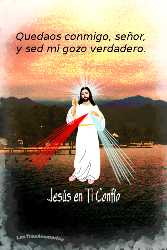 imagen de la divina misericordia con jaculatoria