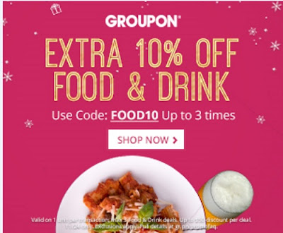 Groupon 10% Off Food & Drink Promo Code