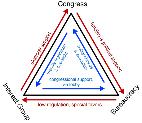 iron triangles assignment The concept of iron triangles, also referred to as sub governments, is used to explain how various interests influence public policy applying this concept to.