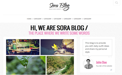 Share Template Blogspot cá nhân đẹp