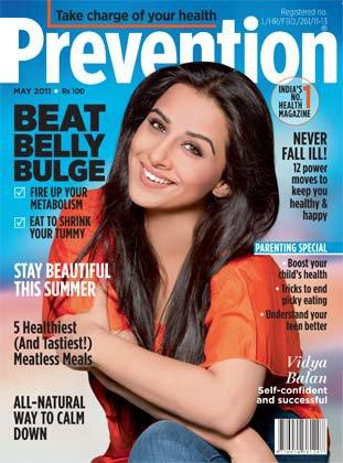 Vidya Balan on Prevention Magazine Cover May 2011 Edition