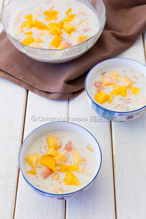 Mango Grapefruit Sago in Coconut Milk03