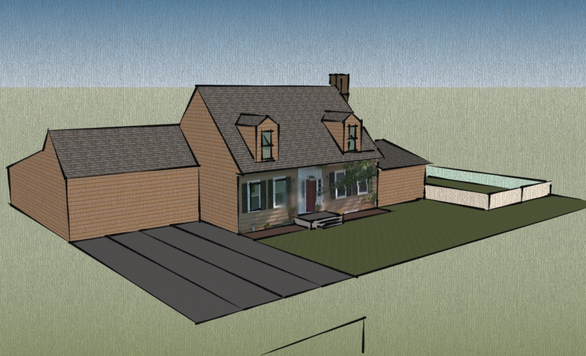 artisan design house renderings using google sketchup