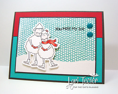 You Melt My Ice card-designed by Lori Tecler/Inking Aloud-stamps from The Cat's Pajamas