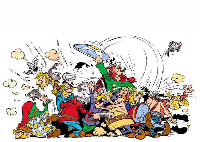 [Análise Retro Game] - Asterix O Desafio de Cesar - PC Gauleses+-+briga