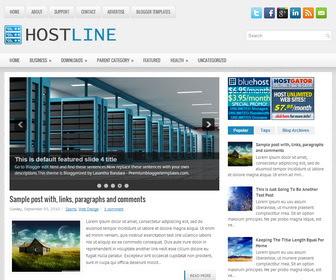 HostLine Blogger Template