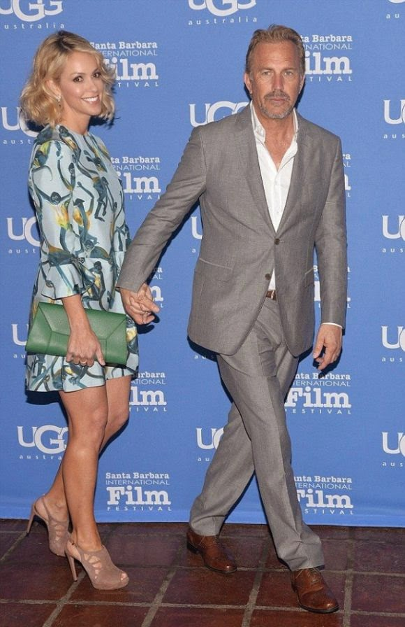 Love to never ending! Yap, Kevin Costner was all smiles as he walked so gentle to the 30th Annual Santa Barbara International Film Festival at California on Friday, February 6, 2015.
