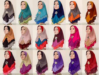 Tudung Chiffon 3 Layer Plain - Batch 11