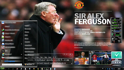 THEME WINDOWS 7 MANCHESTER UNITED GLASS