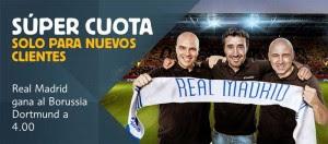 Supercuota betfair nuevos registros desde el blog de jrvm en el Dortmund vs Real Madrid
