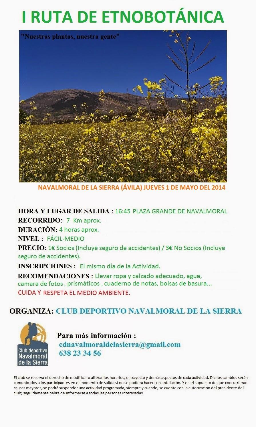 Plazanavaluenga paseo etnobot nico en navalmoral - Navalmoral de la sierra ...