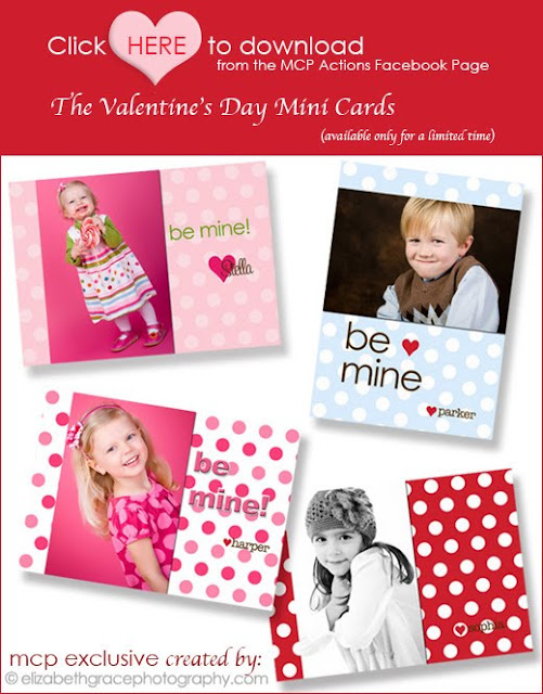click for website and newsletter Valentine Photo Template Roundup