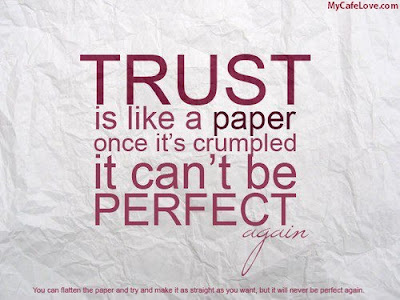 trust is like a paper thought image