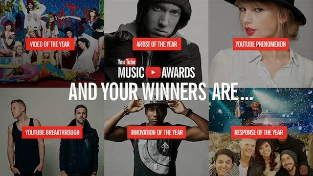 Winners of the 2013 You Tube Awards_Celebrity English