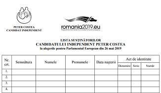 Peter Costea 🔴 Vă rugăm să începeți strângerea semnăturilor!