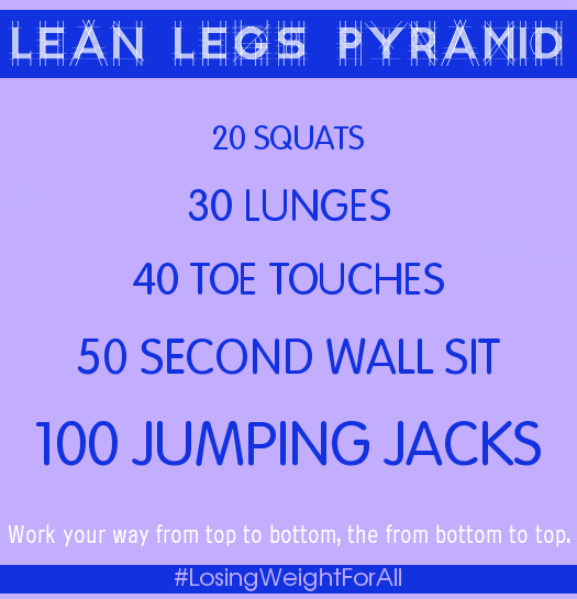 Lean Legs Pyramid Workout