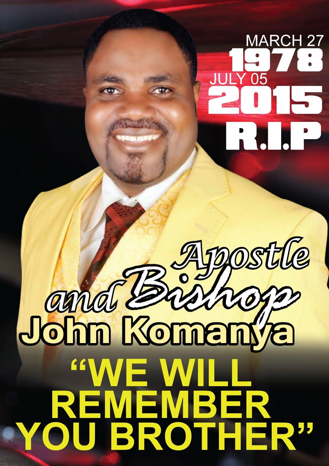 BONYEZA PICHA HAPO CHINI KUONA MATUKIO YA MAZISHI YA BISHOP  NA APOSTLE JOHN KOMANYA
