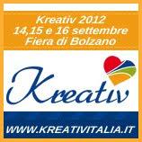 Sarò presente alla fiera Kreativ di Bolzano, Stand A0413
