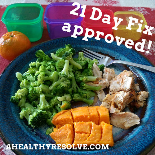 21 Day Fix & 21 Day Fix EXTREME Sample Meal