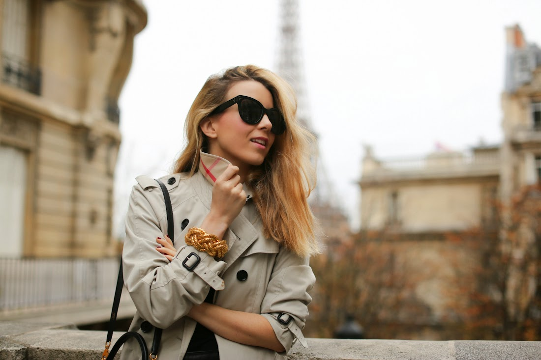 burbeery, paris, eiffel tower, fashion blogger, streetstyle, hermès, givenchy, outfit, look du jour