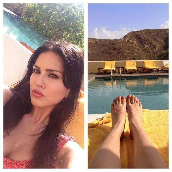 Sunny Leone on the set of MTV Splitsvilla
