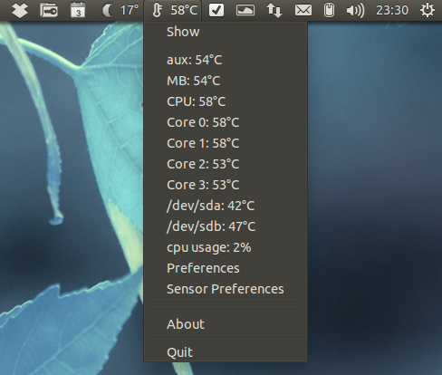 Psensor Hardware Monitor Tool