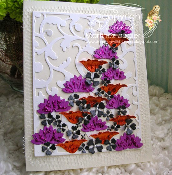congratulations flower lace front card