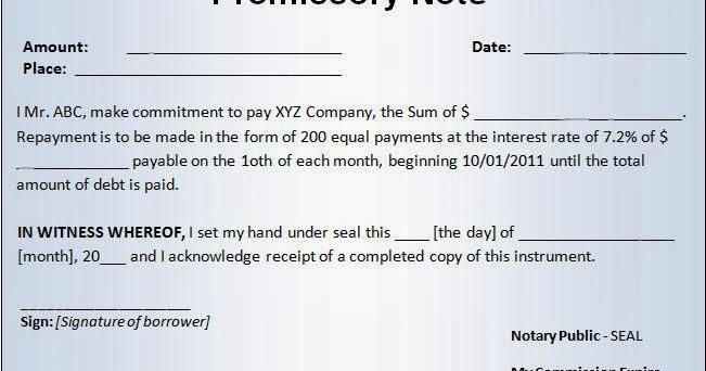Bankers Adda  Indian Promissory Note Format