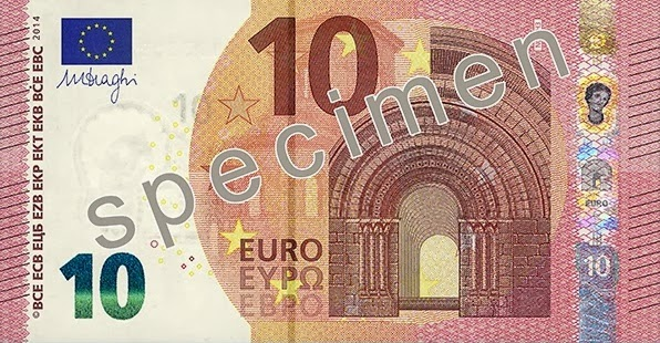 New 10 Euro Bank Note Nova nota de 10 euros