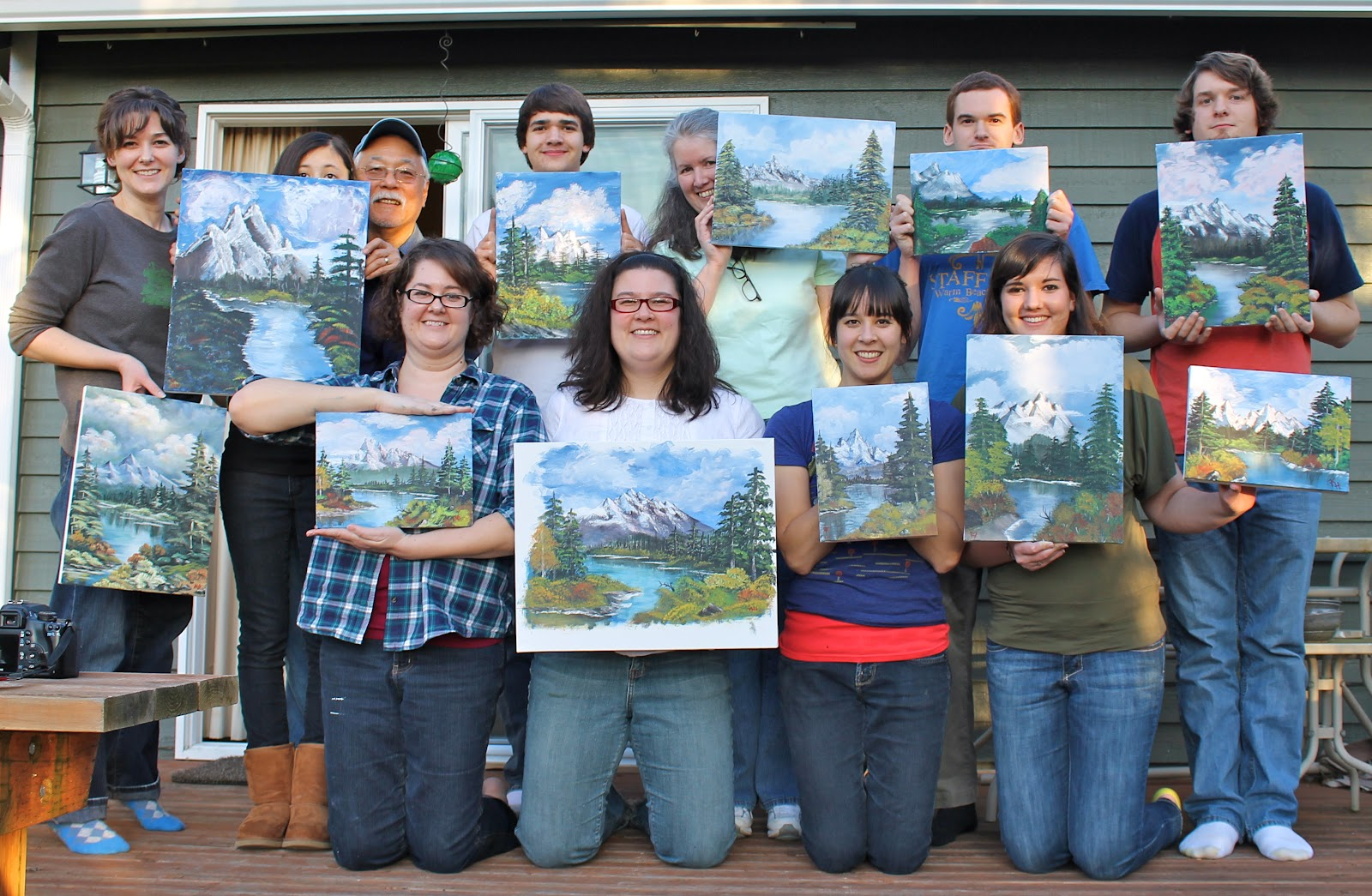 crown hill bob ross party