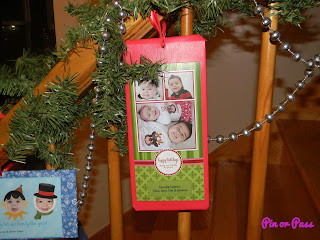 Use past Christmas cards to decorate for the holidays