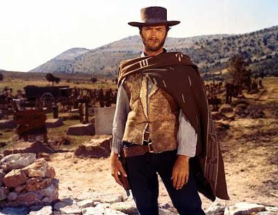Imagen de Clint Eastwood en la película 'El Bueno, el Feo y el Malo', del director Sergio Leone. Making Of