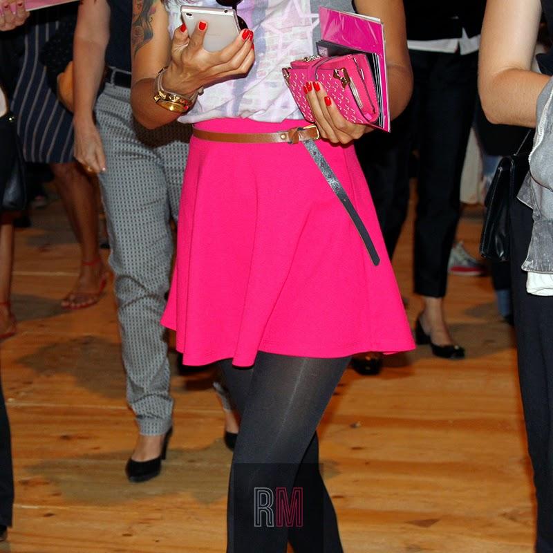 pink black skirt