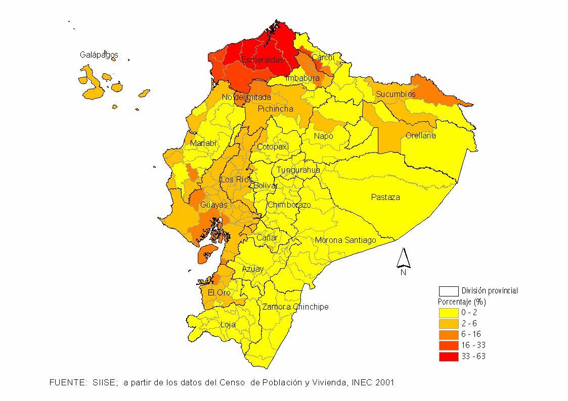 mapa político del ecuador actualizado