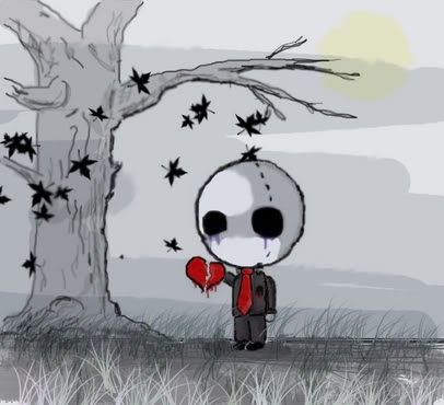 A Sad Emo Character Bring His Broken Heart And Crying New Hd Wallpaper 2014 Best For Your PC