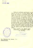 Carta del Alcalde a Director Diario Ya. Fecha 9/11/1983