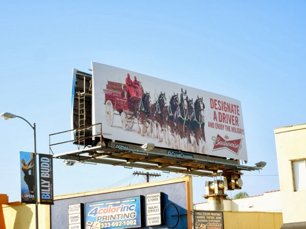 Budweiser Designate driver holiday billboard