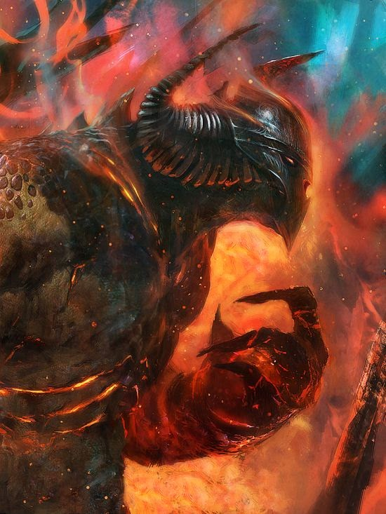 Grosnez deviantart illustrations fantasy science fiction Demon lord of destruction