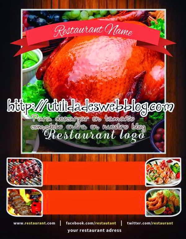 Plantilla en psd para menu de restaurante editable multicapa