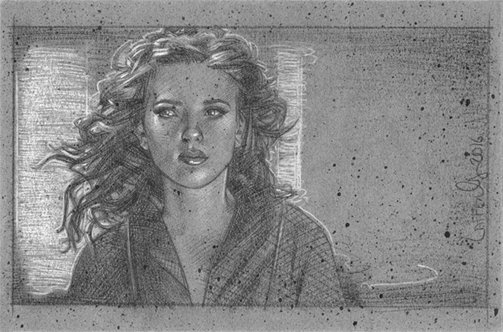 Black Widow, Scarlett Johansson Artwork © JEFF LAFFERTY 2016