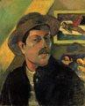 El arte del desnudo en Paul Gauguin (45 años) - Autorretrato con sombrero (1893)